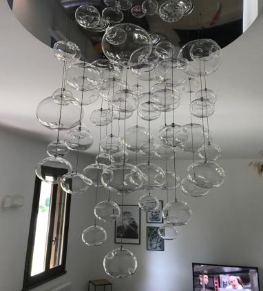 lampadario scenografico soggiorno